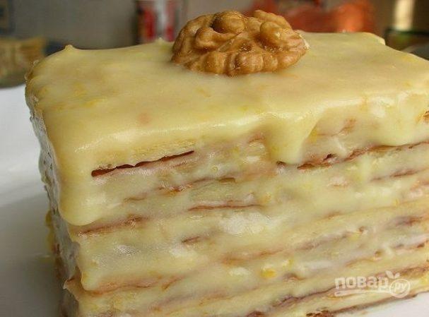 Слоеный торт со сгущенкой
