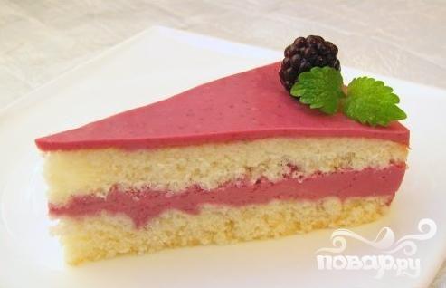 Ежевичный торт