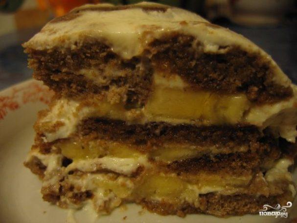 Пряничный торт (рецепт без выпечки)