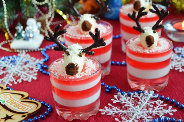 Новогодний десерт «Олени в снегу»