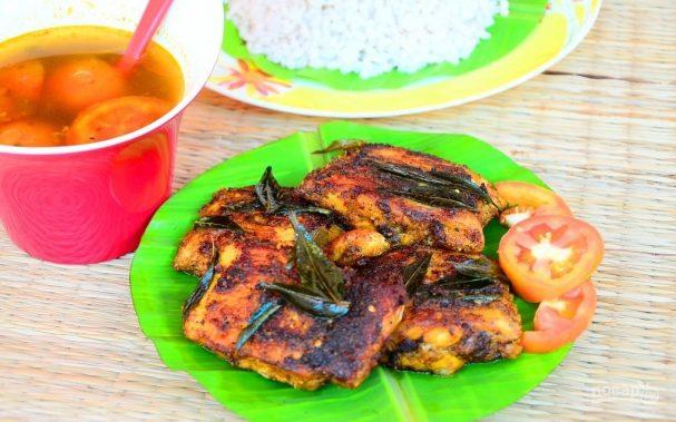 Острая жареная рыба по-тайски