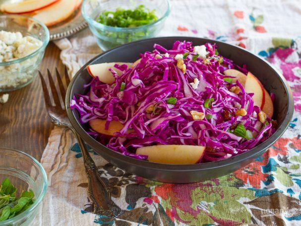 Рецепт салата с красной капустой