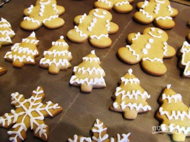 Рождественское печенье с глазурью