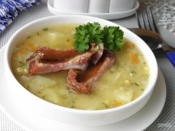 Повар ру гороховый суп с копчеными