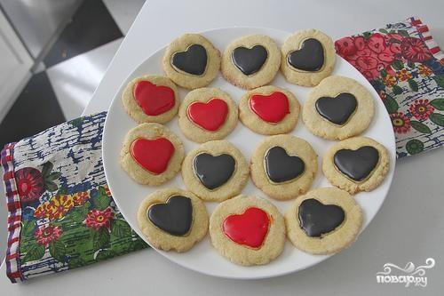 Печенье-валентинки из кукурузной муки