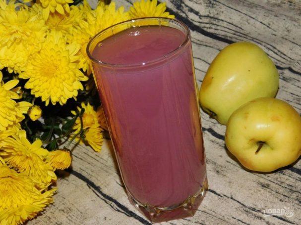 Кисель из яблок и черной смородины