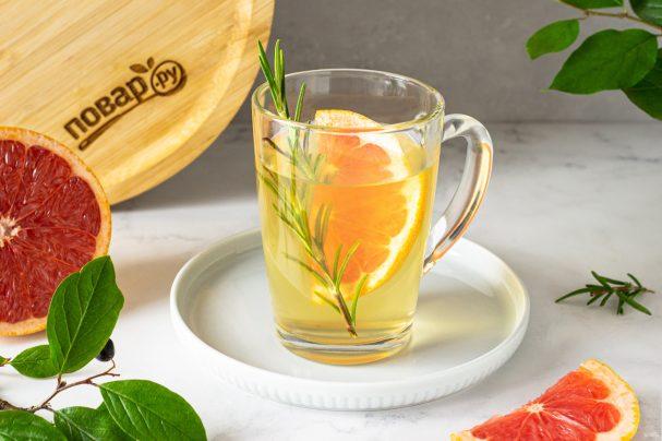 Чай с грейпфрутом и розмарином