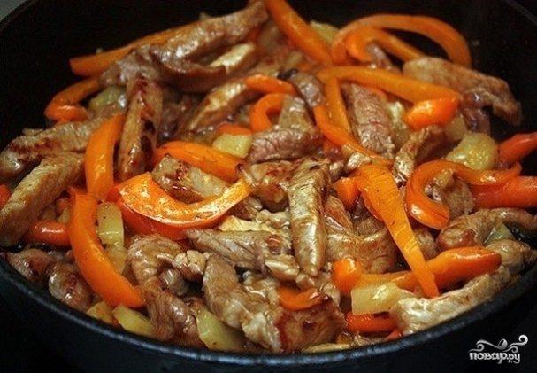 Мясо с овощами рецепт из свинины