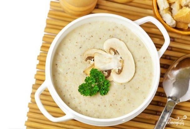 грибной крем суп из шампиньонов рецепт