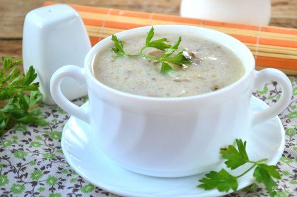 Суп-пюре из вешенок