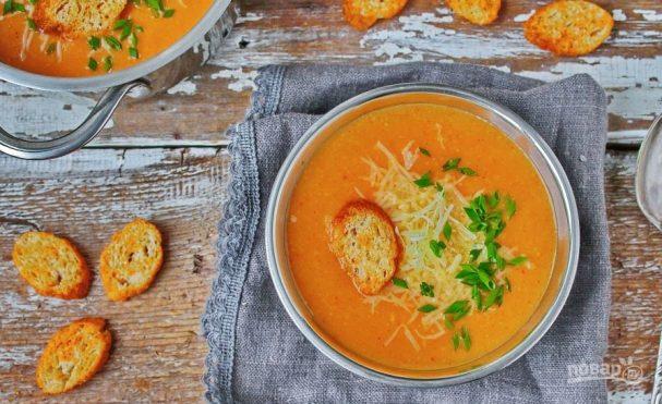 Сырный суп-пюре с перцем