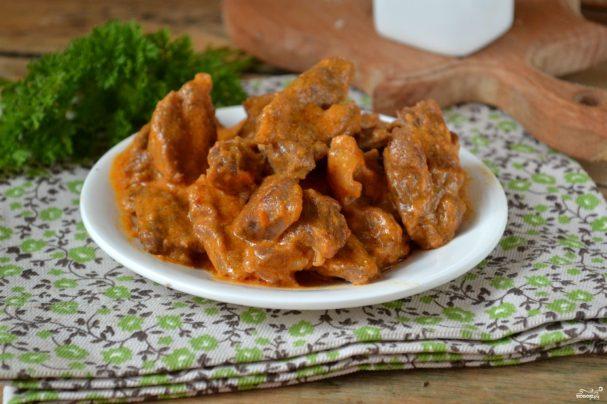 Мясо в соусе на горячее