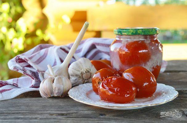 """Маринованные помидоры """"в снегу"""""""