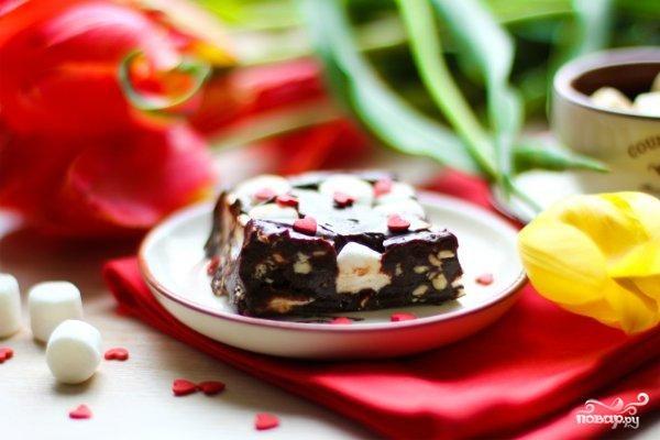 Шоколадный фадж с маршмеллоу