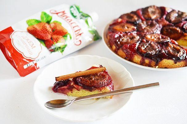 Лучший рецепт сливового пирога с джемом