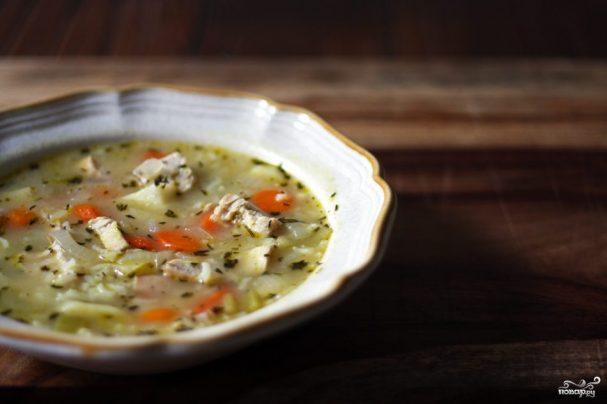 Куриный суп простой