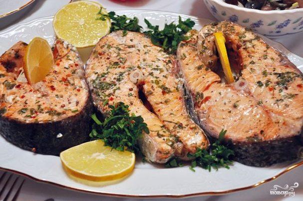 Cтейк из рыбы в духовке