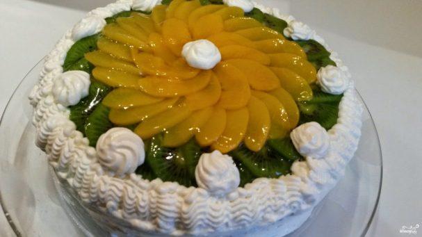 Бисквитно-кремовый торт