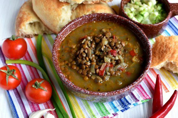 Индийский суп из чечевицы
