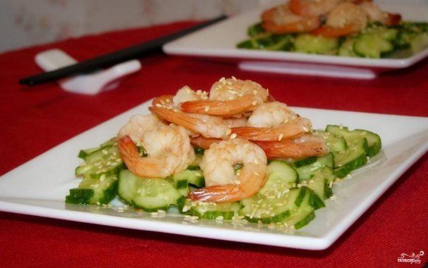 Японский салат из огурцов