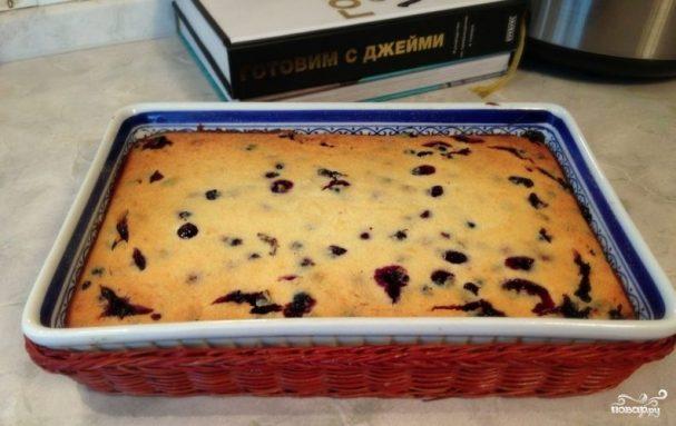 Творожное тесто с ягодами