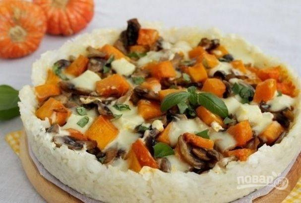 Тыквенный пирог на рисовой основе