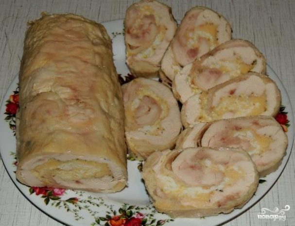 рецепт куриного рулета запеченного как в ашане