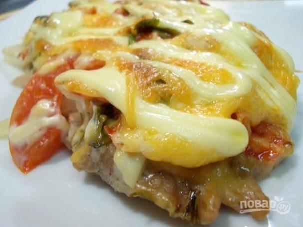 Мясо по-французски с грибами в духовке