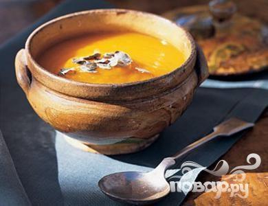 Тыквенный суп с каштанами