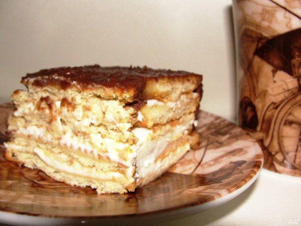 Торты со сметаной без выпечки рецепты с пошаговым фото из печенья