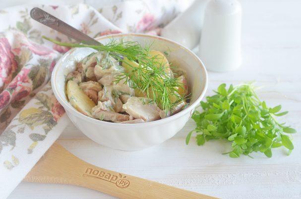 Полезный куриный салат
