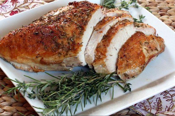 куриная грудка в рукаве в духовке рецепт с фото