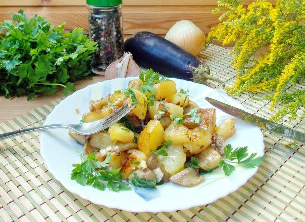 Жареный картофель со вкусом грибов