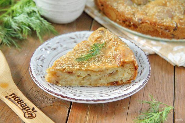 ПП пирог с капустой
