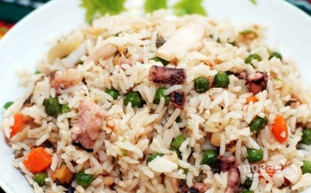 Морепродукты с рисом