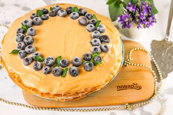 Блинный торт с рикоттой