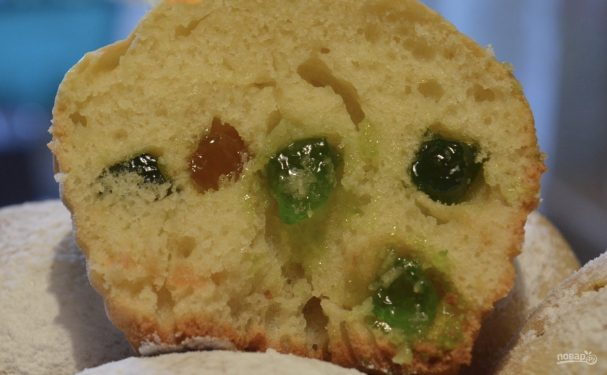 Быстрые и вкусные кексы на сметане