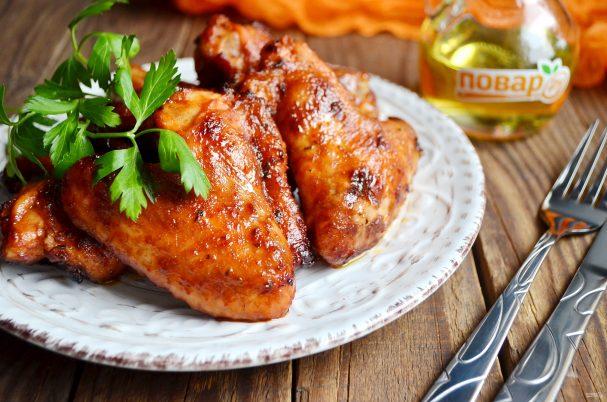 Куриные крылышки барбекю в духовке