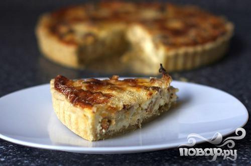 Пирог с луком и цветной капустой