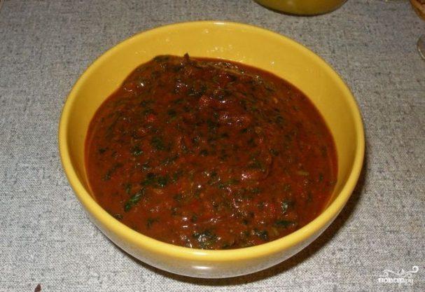 Сацебели из томатной пасты