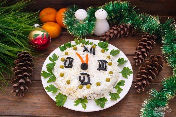 """Новогодний салат """"Куранты"""""""