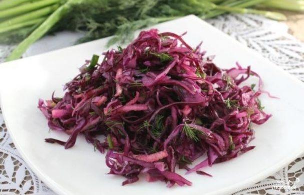 Салат к шашлыку из капусты