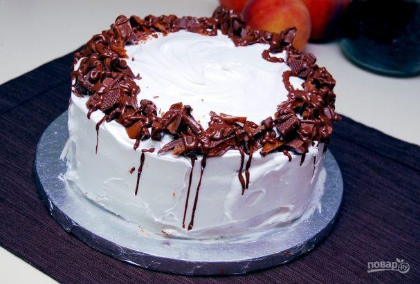 Бисквитный торт с ликёром