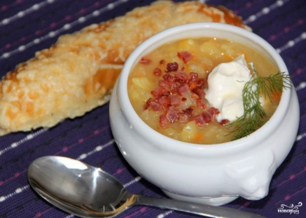 Суп картофельный с овощами