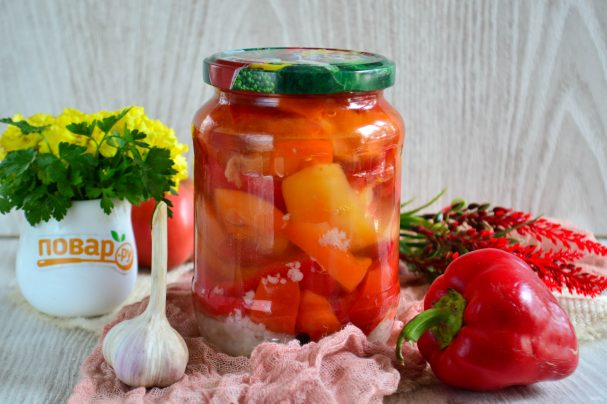 Болгарский перец с чесноком на зиму