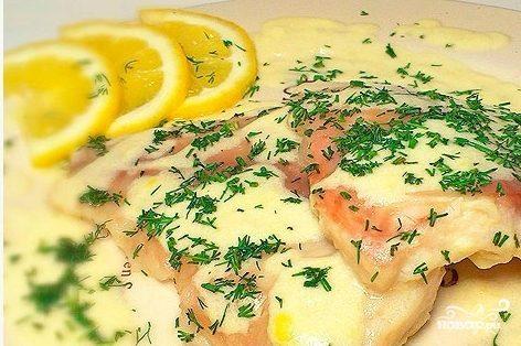 Рыба под лимонным соусом