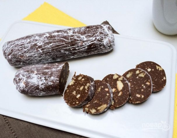 """Шоколадная колбаска """"Сладкоежка"""""""
