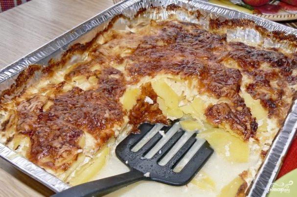 Картофель запеченный со сливками