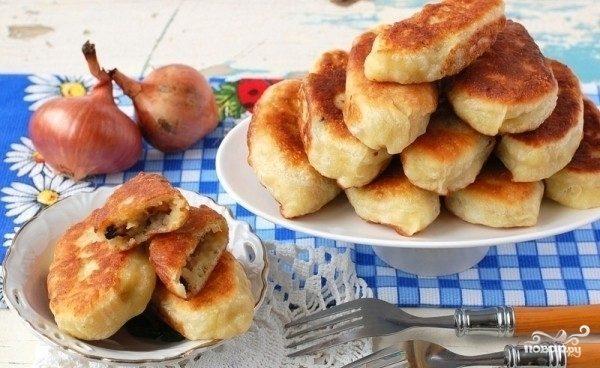Пирожки с грибами и картошкой жареные