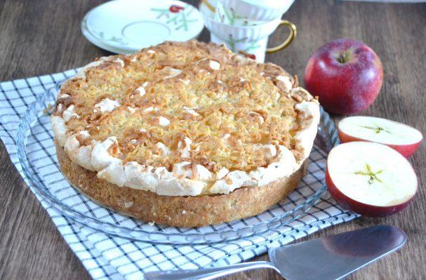 Польский пирог с яблоками и безе